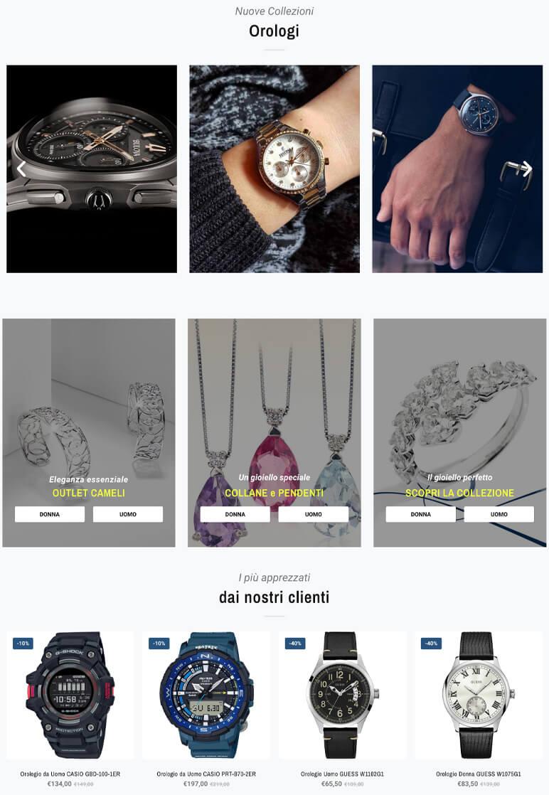 Realizzazione sito web gioielleriacameli.it